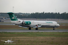 Carpatair - YR-FZA - Fokker 100 (Aviation & Maritime) Tags: yrfza carpatair fokker fokker100 osl engm osloairportgardermoen oslolufthavngardermoen osloairport gardermoen norway