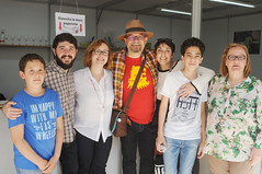 Paco Alonso i la família; Nacho Larraz, Lola Carrasco i Gloria Mañas 30/04/2017