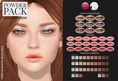 Powder Pack LeLutka March Edition released (Izzie Button (Izzie's)) Tags: powderpack lelutka izzies sl makeup appliers