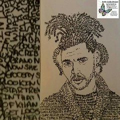 Poetic Portrait of The Weekend with their Number 1 Billboard Hot 100 song Starboy More info and art at  FB.me/kathygrillodesign #art #drawing #creative #designs #wordart #sketch #ink #pen #draw #sketchbook  #artist #patterns #design #lettering #practice #