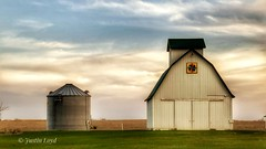 Evening on the Farm (Justin Loyd Photography) Tags: barnyard farm farmyard farmers white flickr iowa perry rural country dallascounty evening canon 6d 24105l barn buildings ngc april spring eos simple colorful