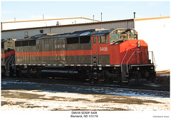 DMVW SD50F 5408 (Robert W. Thomson) Tags: dmvw dakotamissourivalleyandwestern emd diesel locomotive sixaxle sd50 sd50f cowl cowlunit fullcowl drapertaper train trains trainengine railroad railway bismarck northdakota