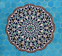 Mosaic (Wild Chroma) Tags: jame mosque yazd iran mosaic tiles persia