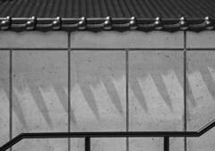 Shadows and rail (Tim Ravenscroft) Tags: shadows tiles japanese rail monochrome blackwhite morikami florida