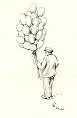 Anton Pieck- Bemin dan Amsterdam, 1948 ill  Ballonverkoper (janwillemsen) Tags: antonpieck amsterdam bookillustration 19451948