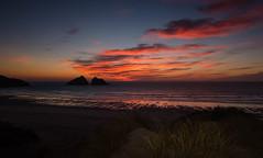 Holywell Bay at Dusk. (Go placidly amidst the noise and haste...) Tags: holywellbeach sunset dusk cornwall beach coast southwest westcountry island sky cloud