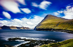 The view from Gjógv - Faroe Islands (@PAkDocK / www.pakdock.com) Tags: 2016 adventure cliff clouds faroe faroese feroe grass grassland green island islands islas lake landmark landscape nature ocean outdoor outdoors pakdock panorama panoramic planet scotland sea sunny travel village wanderlust gjogv long exposure longexposure
