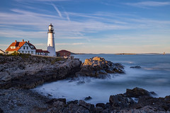 Portland Head Light (Bob90901) Tags: portlandheadlight capeelizabeth maine longexposure autumn afternoon lighthouse shore ocean sky water rpg90901 canon 6d canonef35mmf14liiusm filter neutraldensity lee bigstopper nd10 nd seascape seashore rocks 2016 september 1749 sea waves lowtide