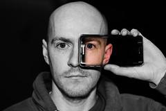 Time for a selfie (_John Hikins) Tags: phone selfie portrait bw black blackwhite blackandwhite samsung selective pop d5500 devon nikon nikkor 50mm 50mm18 photoshop