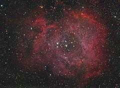 Rosette Nebula (DeepSkyDave) Tags: astrophotography astrofotografie astronomy astronomie night sky nacht himmel stars sterne deepsky cosmos kosmos natur nature long exposure langzeitbelichtung low light wenig licht canon eos 6d astrodon mod bright colors