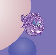 Shuttle doodle (Don Moyer) Tags: spaceship ink drawing sketchbook moyer donmoyer brushpen