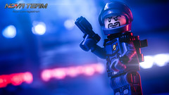 A Hero Pose (Agaethon29) Tags: lego afol legography brickography legophotography minifig minifigs minifigure minifigures toy toyphotography macro cinematic 2017 legospace neoclassicspace spaceman classicspace space scifi sciencefiction ncs novateam customminifigure moc
