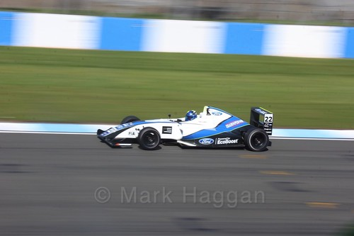 Manuel Sulaimán in British F4 Race One during the BTCC Weekend at Donington Park 2017