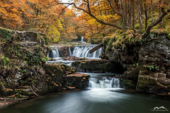 Sqwd y Bedol Autumnal colours (James stannard) Tags: brecon beacons waterfall long exposure sqwd y bedol wales autumn autumnal fall warm colour leafs water flow trees woods uk