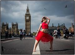 Ballerina - London (jocelynmifsud) Tags: london dance ballet westminster westminsterbridge bigben
