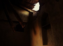 Safe Shelter (micheledibitetto) Tags: shelter house roof beam wood darkness shade