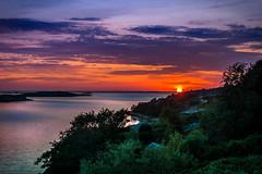 Baltic sunset (Mantere) Tags: sea sunset water reflection island ocean baltic finland dusk archipelago finnish kökar