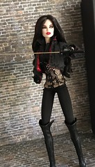 Night Warrior Vanessa Perrin (oasis2609) Tags: night warrior vanessa perrin dollystyle japan fashion royalty integrity toys van helsing badlands gothic vampire hunter sword katana raven dark