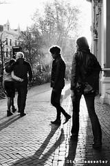 Into The Sun (stef demeester (catching up)) Tags: utrecht sun light city street bw blackandwhite stefdemeester x70 fujifilmx70