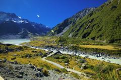The Hooker Glacier (T Ξ Ξ J Ξ) Tags: newzealand aoraki mountcook fujifilm xt1 teeje fujinon1024mmf4 day hooker tracks glacier river swingbridge