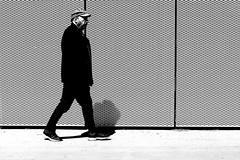 The man with the cap (pascalcolin1) Tags: paris13 homme man casquette cap points soleil sun ombre shadow photoderue streetview urbanarte noiretblanc blackandwhite photopascalcolin