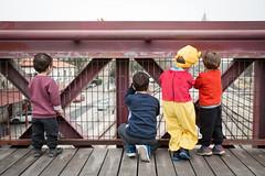 Train Spotting (shokkas) Tags: kids costume pooh children innocense train happiness calmness tracks color bliss