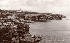 Souter Lighthouse (SouthShieldsPostcards) Tags: souter lighthouse south shields marsden point wharry wherry rocks sea cave postcard photograph photo old