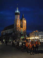 Krakow (free3yourmind) Tags: krakow cracow poland church basilica stmarys girl horsedrawncarriage night city authentic explore eastern europe