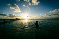 Sunset Ripples (H.H. Mahal Alysheba) Tags: saipan ocean sea sky sunset people water nikon d800 sigma fisheye landscape