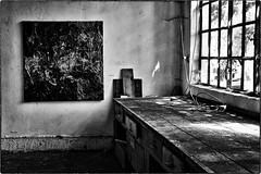 And there was a time when... (marcobertarelli) Tags: timeless timeline past art abandoned presence remember monochrome monochromatic bw shadow light detail room reflections contrast darkness