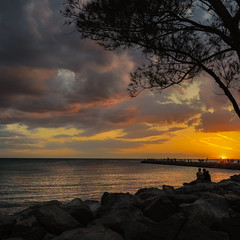 Sundown (Tim Ravenscroft) Tags: sunset venice beach florida sky sea hasselblad hasselbladx1d x1d