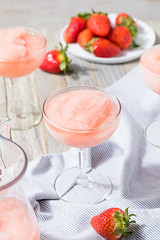 Cold Refreshing Frozen Rosé Wine Cocktail (brent.hofacker) Tags: rosé rosécocktail roséslushee rosésmoothie roséwine alcohol alcoholic beverage booze celebration chill cocktail colorful crushed drink drinks festive frosé frozen frozenrosé frozenroséwine fruit glass holiday ice juice liquid party pink raspberry red romantic rose slushee smoothie spirit strawberry summer wine wineglass