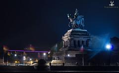 DerKaiser (CoyoteFotos) Tags: deutscheseck koblenz rhein mosel eck licht lichterspiel langzeitbelichtung schatten reiter kaiser denkmal rheinland pfalz flaggen festungsleuchten