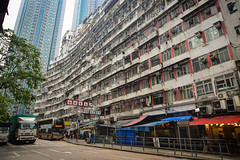 Old apartments in Hong Kong (phuong.sg@gmail.com) Tags: abandoned aged apartment architecture asia block building china city clothes dark decay derelict developing dirty down downtown facade flats ghetto grungy habitat highrise home hongkong housing life line living neglect neighbourhood poor poverty projects recession residential retro rundown slum squat unemployment urban windows world worn