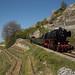Train spécial à vapeur tracté par la Pacific 01 202 entre Chexbres-Village et Corseaux-Cornalles