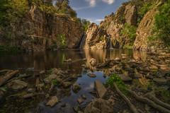 El Hervidero. (Amparo Hervella) Tags: cascadadelhervidero comunidaddemadrid españa spain cascada agua paisaje reflejo roca naturaleza largaexposición d7000 nikon nikond7000 comunidadespañola