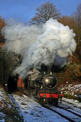 Scottish van freight (Nigel Valentine) Tags: k4 61994 great marquess snow steam scotland east lancashire railway