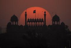 Sun meets Red Fort (Abhinav Singhai) Tags: nikon travel traveller tourist tourism traveler india incredibleindia indiatravel indiatourism indiatourist