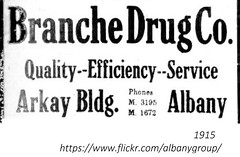 Bramche  Drugs  Arkay Builidng  State st  albany ny  1915 (albany group archive) Tags: state s pearl south