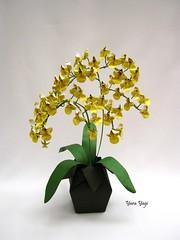 Chuva de Ouro (Yara Yagi) Tags: origami paper papel flor flower orquídea orchid