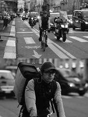 [La Mia Città][Pedala] per deliveroo (Urca) Tags: milano italia 2017 bicicletta pedalare ciclista ritrattostradale portrait dittico bike bicycle biancoenero blackandwhite bn bw 993133 nikondigitale scéta deliveroo