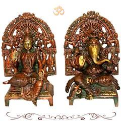 Lakshmi Ganesh Idol | VedicVaani.com (vedicvaani.com) Tags: idol ganesh god lord lakshmi goddess statue online brass hindu sculpture sinhasan