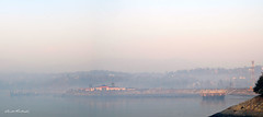 Sundernager_lake (blakk26) Tags: water sundernagar himachalpradesh india surise fog hazy morning winters