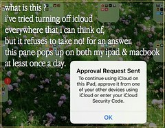 icloud nagging (chrstphre) Tags: approval request sent ok icloud macbook ipad
