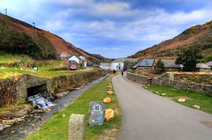 NT Land (Shertila Tony) Tags: panorama weather clouds river europe cornwall day village cloudy britain scenic overcast hills valley nationaltrust hdr boscastle rivervalency valencyvalley forraburyandminster