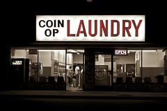 Coin Op (Color by Spiegel) Tags: night laundry burbank top10