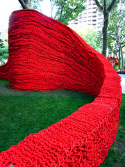 Red, Yellow and Blue (Goggla) Tags: park new york nyc blue red art yellow square rope madison orly genger