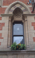 Memorial Hall window (misterworthington) Tags: brick architecture manchester gothic victorian lancashire albertsquare worthington thomasworthington deanrowchapel claudeworthington