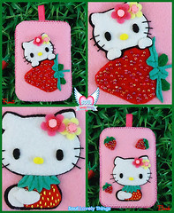 Strawbee Kitty (Soul Lovely Things) Tags: pink cute mobile cat strawberry handmade hellokitty crafts craft felt crafty فن وردي إبداع كيوت قطة فراولة زهري kawtharalhassan soullovelythings