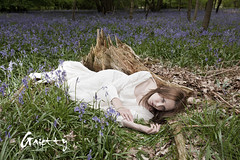 [Blue Dreams.] 1. (Gaietty) Tags: wood uk morning flowers blue trees light summer england woman white cold flower colour tree green art leave me broken girl face field grass leaves lady female forest self canon pose lost eos spring model eyes hands woods day mood alone hand dress emotion princess artistic wind bell body flash may posing down skirt location lips fairy fields strong 5d barefeet bushes bluebell canoneos tale lithuanian lay feelings strobe markii mark2 2013 gaietty